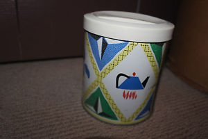 Vintage Procter and Gamble Rooster, Crocus, kettle, metal canister, plastic lid