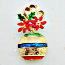 Christmas Vintage Brooch - Christmas Ornament Holiday Jewelry