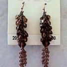 2028 Jewelry Smoked Topaz Chandelier Copper Pierced Earrings