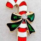 Candy Cane Holiday Pin Brooch Christmas Jewelry