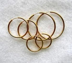Hoop Pierced Earrings 3 Pairs Unworn