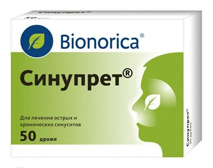 SINUPRET BIONORICA - Sinus congestation x 50 tablets
