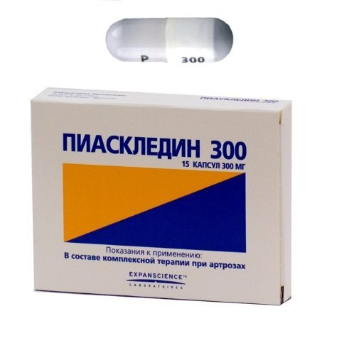 Piascledine 300 Mg 30 Capsules with Avocado and Soybean Oil. Osteoarthritis Treatment.