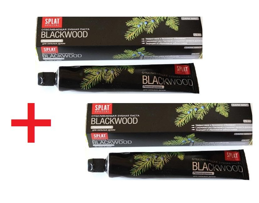 Splat Blackwood Toothpaste 150ml - 2 Tubes. Whitening Kohle Zahnpasta.