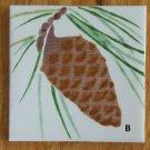 CERAMIC Pine Cone Tiles