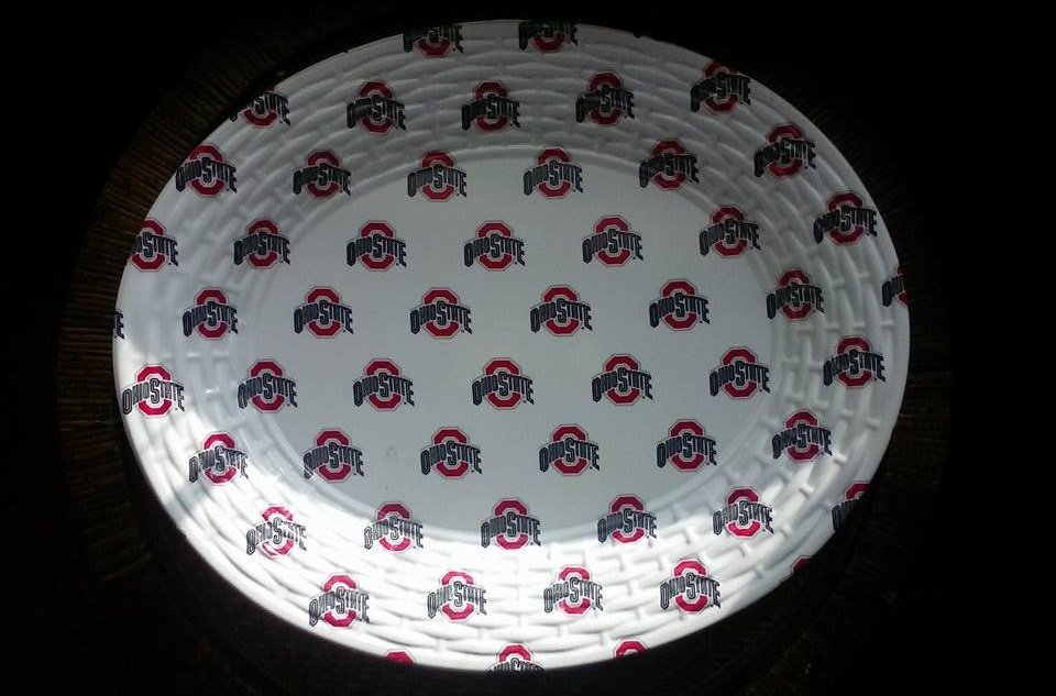 Ohio State University Hard Plastic Oval Serving Tray