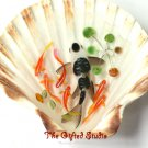 Black spots on white Koi in the shell 3D resin painting