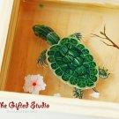 Tortoise resin painting