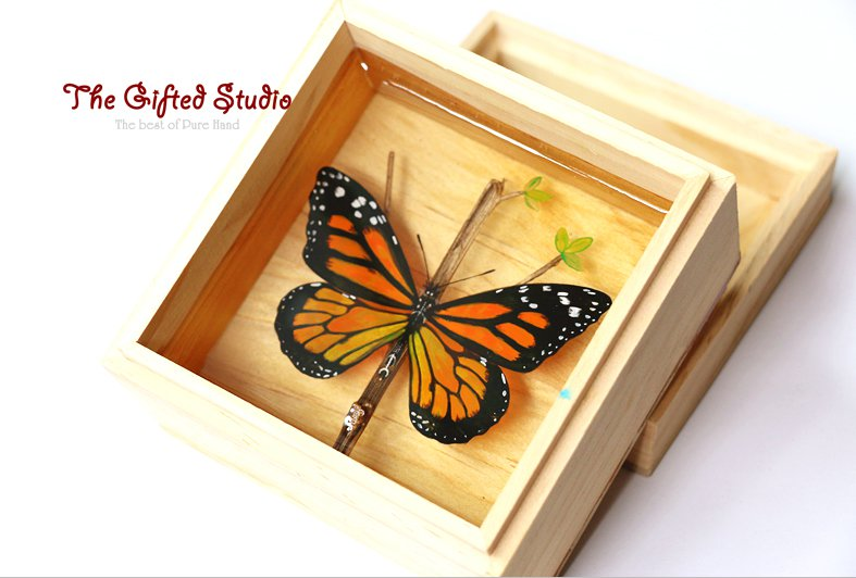 Butterfly resin painting