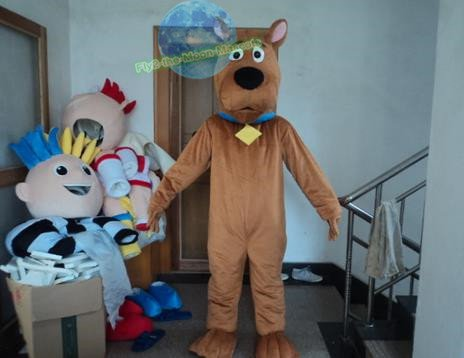 Free Shipping Scooby Dog mascot costume for party and events