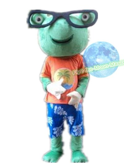 Free Shipping Frog Kermit  with glasses Mascot Costume for Halloween and Christmas event