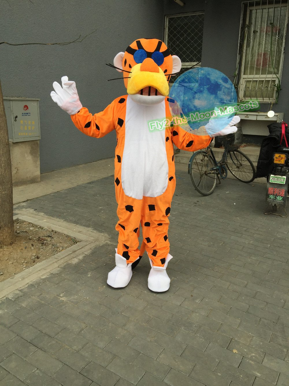 Free Shipping Chester Cheetah Yellow Panther Leopard Mascot Costume for Halloween and party & Free Shipping Chester Cheetah Yellow Panther Leopard Mascot Costume ...