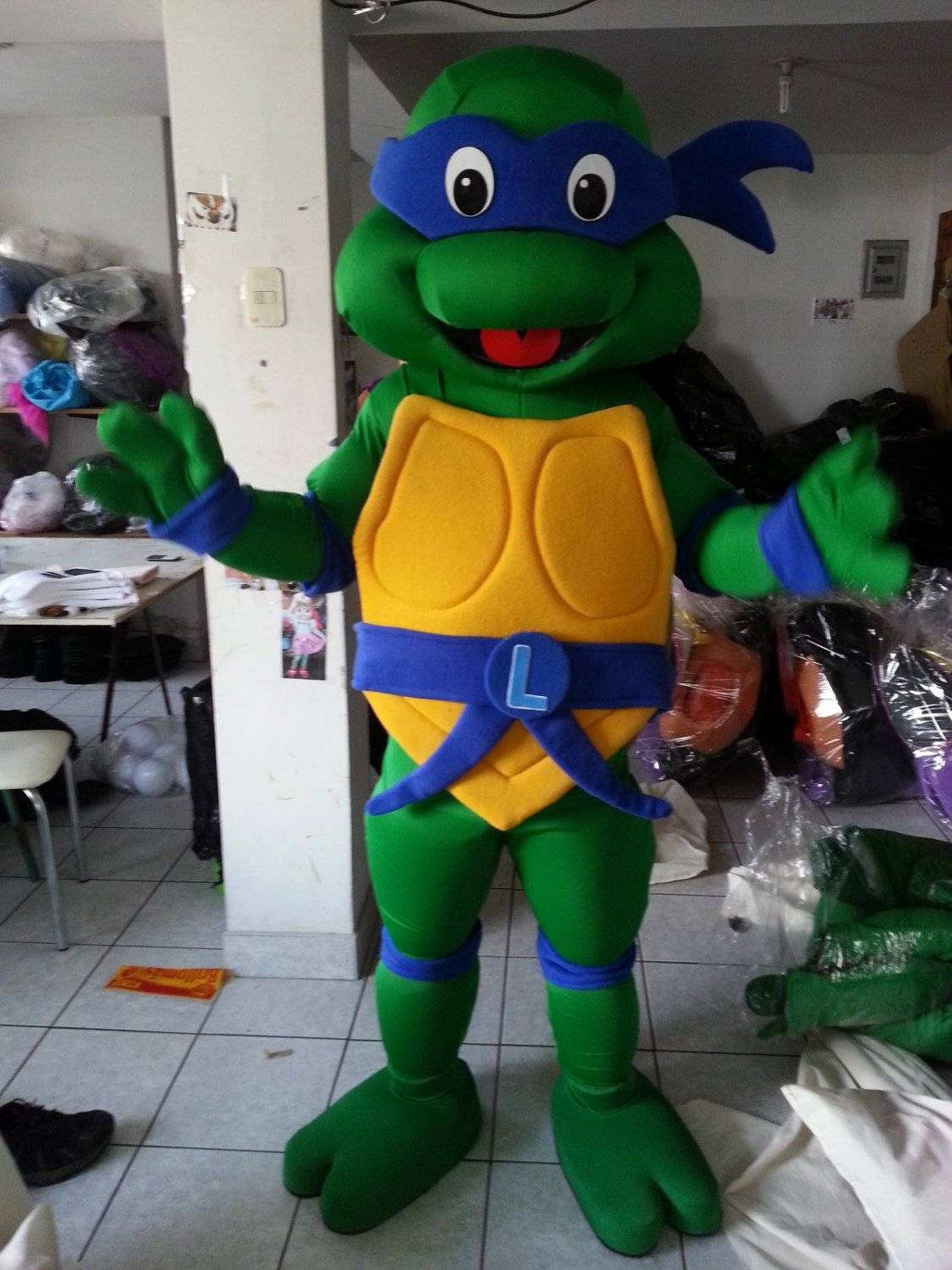 Free Shipping Ninja Turtle Mascot Costume for Halloween and party