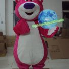 Free Shipping Toy Story Lotso Bear Pink Hugging Bear Mascot Costume for Halloween and party