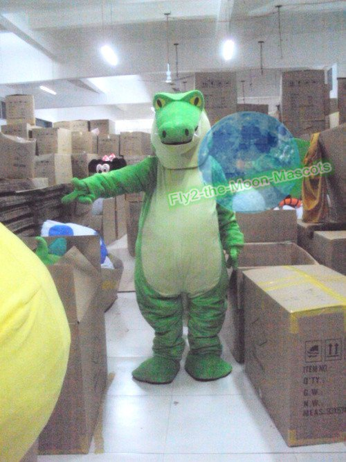 Free Shipping green Crocodile Alligator Animal Mascot Costume for Halloween and party