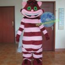 Free Shipping Popular Alice in wonderland cheshire cat Mascot Costume for Adult Halloween costume