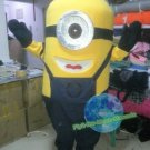 Free Shipping Despicable Me Minion Mascot Costume for Birthday Party Halloween and Events