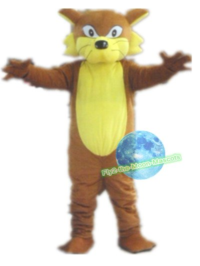 Free Shipping yellow fox wolf Mascot Costume for Birthday Party Halloween and Events