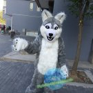 Free Shipping realistic grey wolf dog fursuit Mascot Costume for Birthday Party Halloween and Events