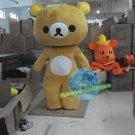Free Shipping Rirakkuma Bear Mascot Costume for Birthday Party Halloween Wedding Events