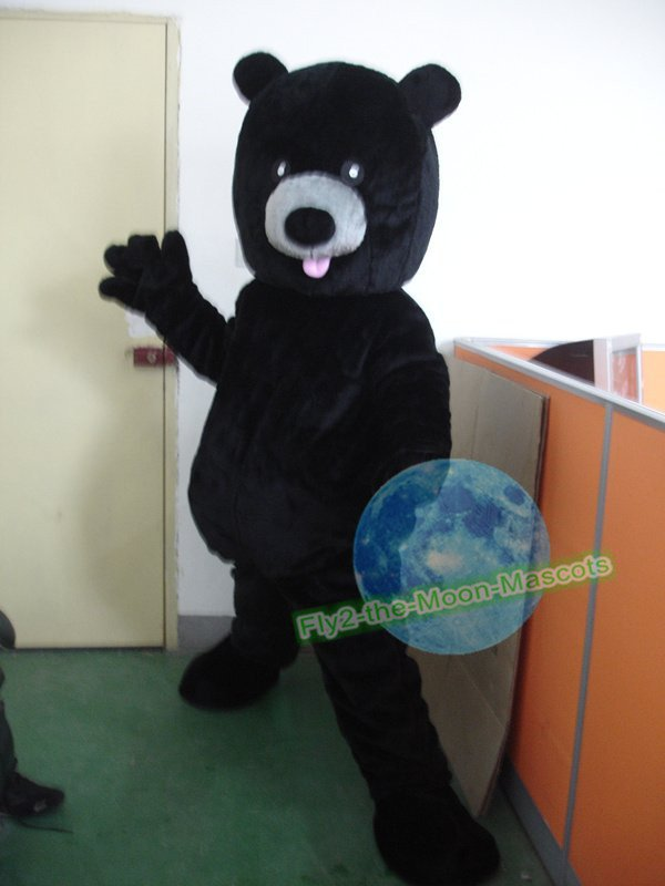 Free Shipping Black Bear mascot costume  for Birthday Party and Wedding Party