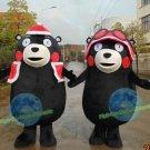 Free Shipping Kumamon Japanese Black Bear mascot costume for Birthday Halloween Christmas