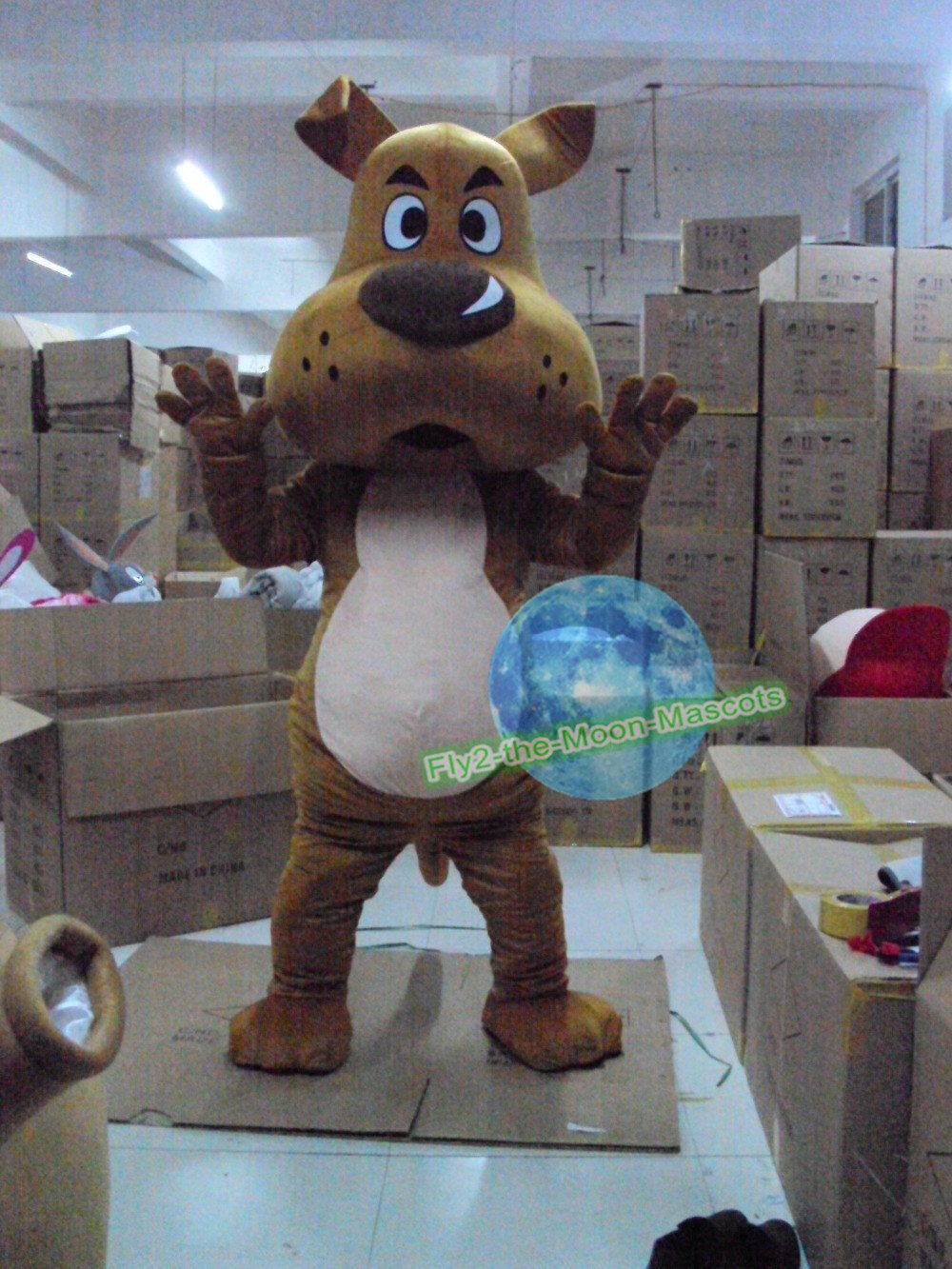 Free Shipping Brown Dog Mascot Costume for Halloween