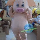 Free Shipping 3 little pigs pink pig mascot costume Halloween Christmas Events
