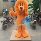 Free Shipping Orange Lion mascot costume Halloween Christmas Event