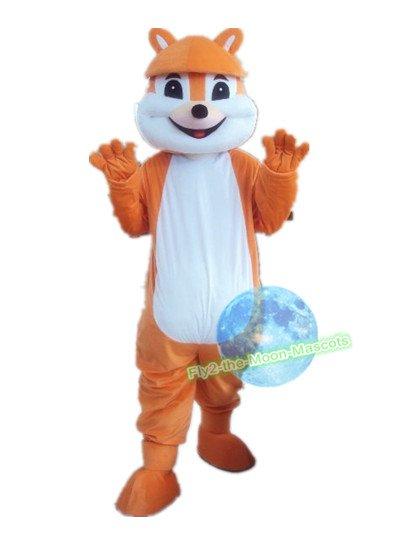 Free Shipping orange squirrel mascot costume Halloween Christmas Event