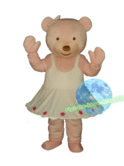 Free Shipping Care Baby Girl Bear Mascot Costume for Birthday Wedding Party Halloween Wedding Events