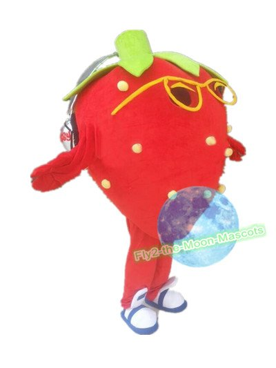 Free Shipping Music Strawberry Mascot Costume for Party Halloween Wedding Events