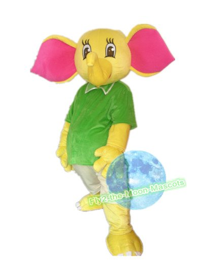 Free Shipping Yellow Elephant Mascot Costume for Birthday Wedding Party Halloween Wedding Events