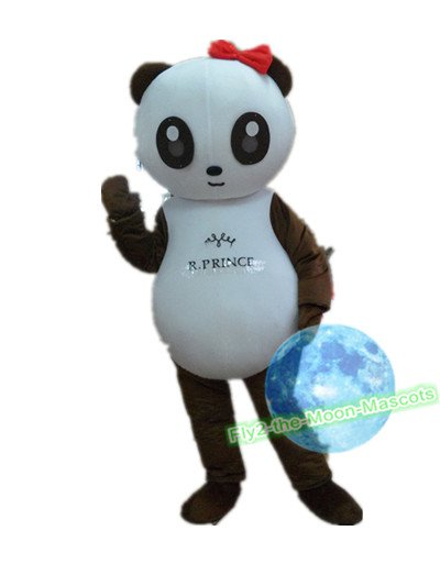 Free Shipping Brown Panda Mascot Costume for Birthday Wedding Party Halloween Wedding Events