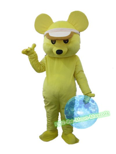 Free Shipping Yellow Mouse Mascot Costume for Birthday Wedding Party Halloween Wedding Events