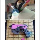 Overwatch D.va DVA Cosplay headset Gun handgun props accessories