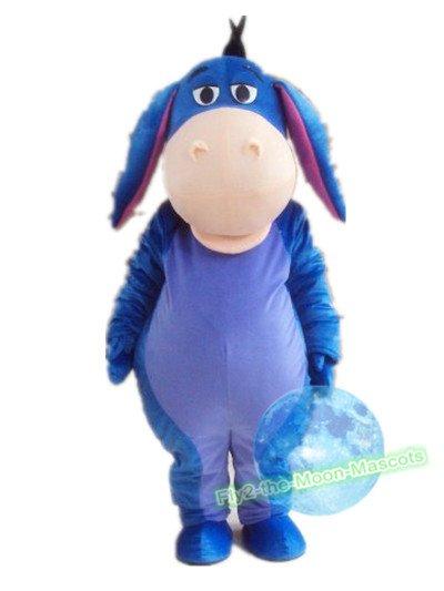 Free Shipping Eeyore Donkey mascot costume Halloween Christmas Event