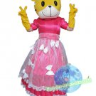 Free Shipping Tiger in pink wedding dress Mascot mascot costume Halloween Christmas Event