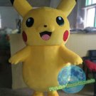 100% Real photo Free Shipping Pokemon Pikachu mascot costume Halloween Christmas Event