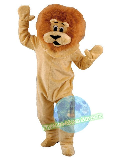Free Shipping King Lion Forest Animal Mascot Costume for Halloween and party