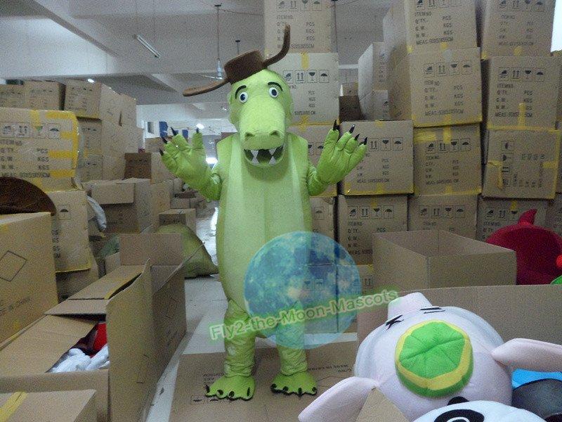 Free Shipping Green Crocodile Alligator mascot costume Halloween Christmas Event