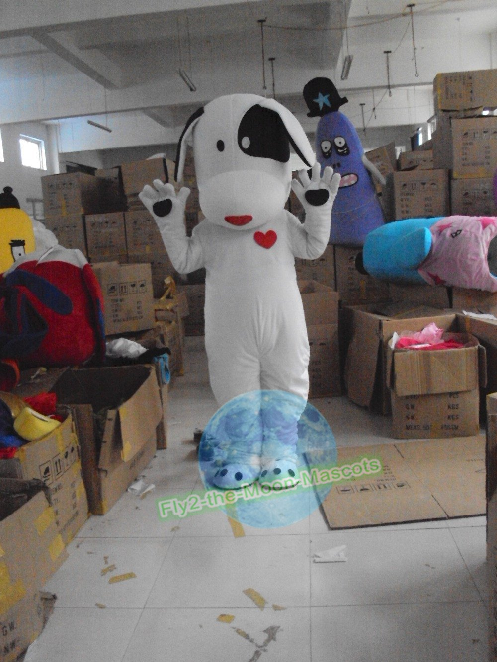Free Shipping Lovely Dog mascot costume for Adult Halloween Birthday party costume