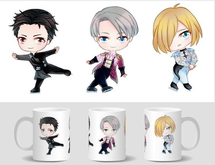 Mini Ceramic Mug: Yuri!!! on Ice Victor Nikiforov & Yuri Katsuki Anime
