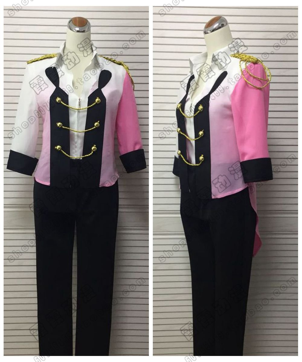 Free Shipping Yuri!!! On Ice Viktor Victor Nikiforov Dancing Costume Cosplay Gradient Color