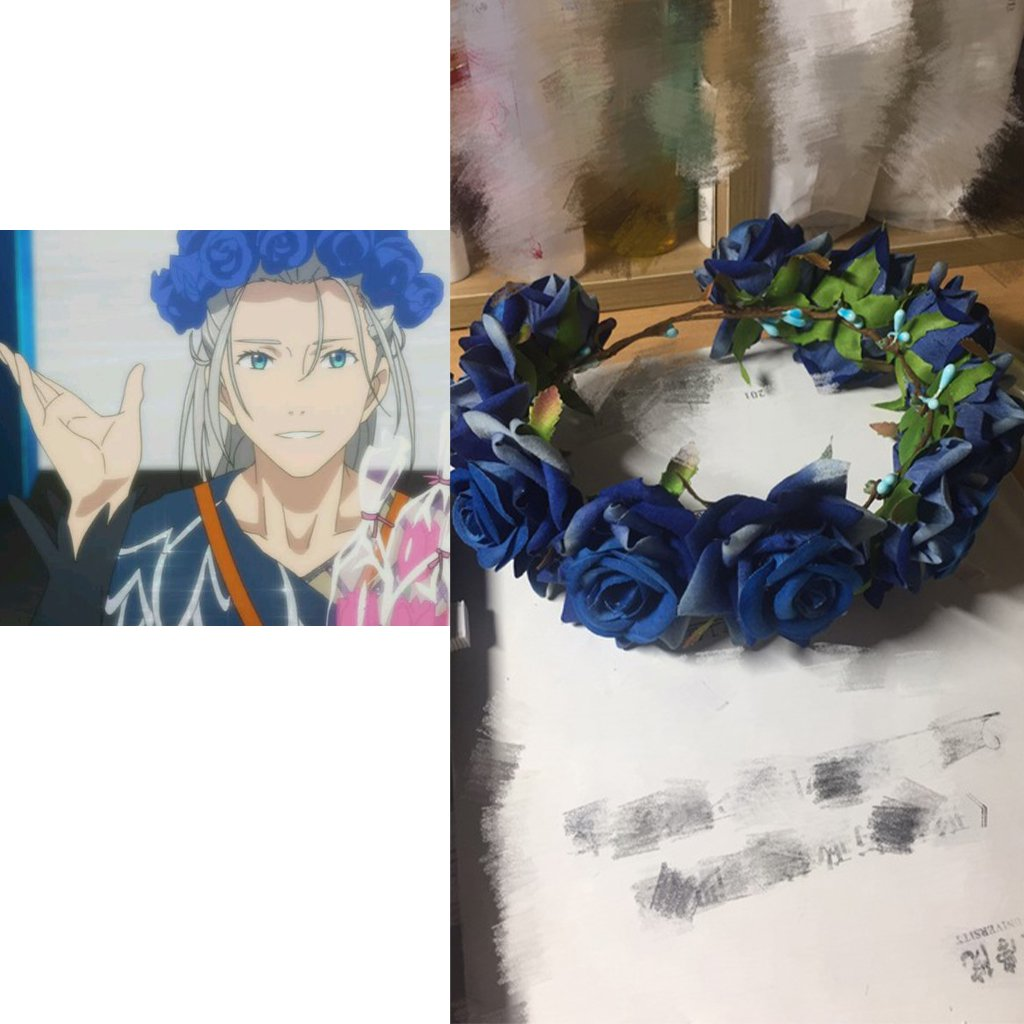 Free Shipping Yuri On Ice Viktor Victor Nikiforov Rose Crown Cosplay Prop There are 2084 crown cartoon for sale on etsy, and they. on ice viktor victor nikiforov rose