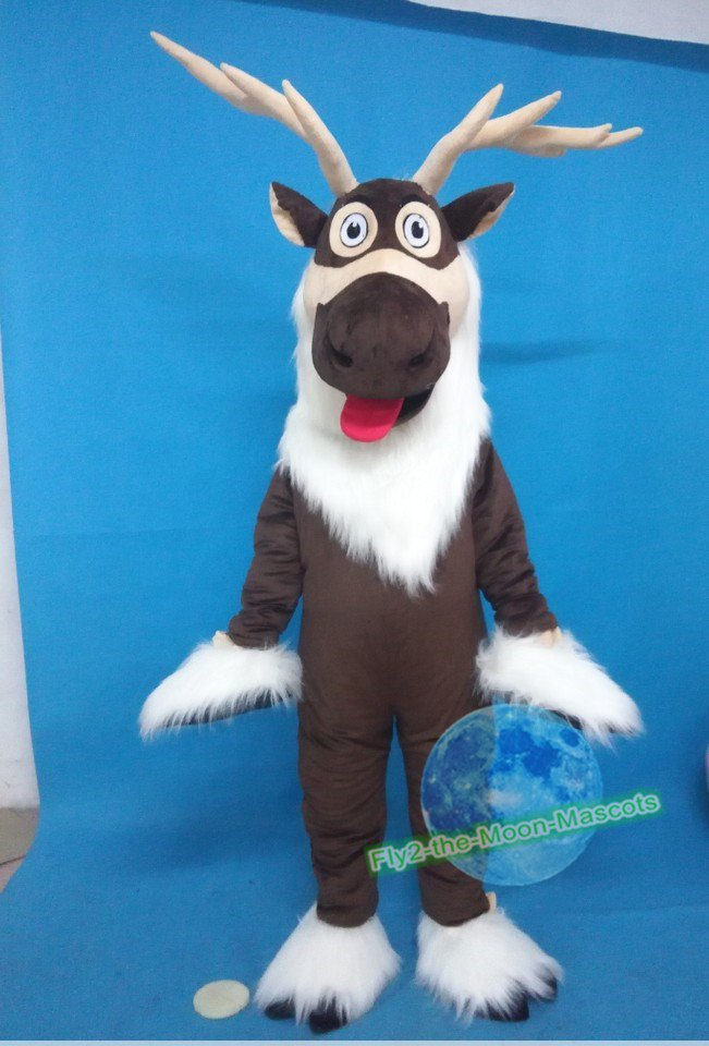 Free Shipping Frozen Donkey mascot Costume Mascot Costume for Halloween and party