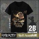 Free shipping NieR: Automata 2B Black T-shirt