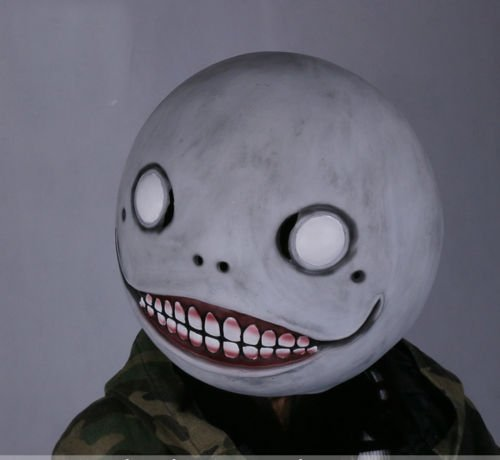 Free shipping NieR: Automata Emil Mask Costume Helmet Halloween Cosplay Props Latex