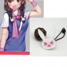 Free Shipping Overwatch D.Va hair bind cord brooch