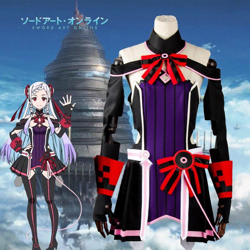 Free Shipping Sword Art Online SAO Movie: Ordinal Scale Yuuna Shigemura Theater Cosplay Costume